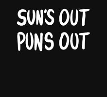 Sun's Out Puns Out - White lettering Tank Top