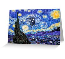 Starry Night Inspiration Doctor Who Tardis Products Greeting Card