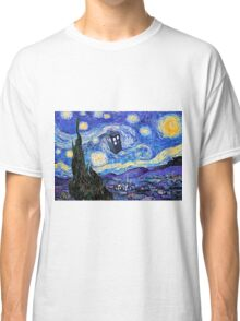 Starry Night Inspiration Doctor Who Tardis Products Classic T-Shirt
