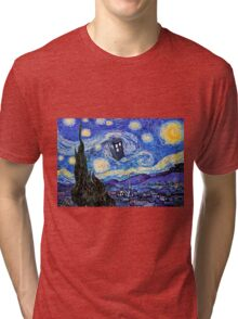 Starry Night Inspiration Doctor Who Tardis Products Tri-blend T-Shirt