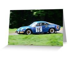 Alpine Renault A110 Greeting Card
