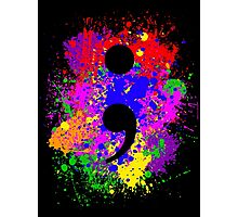 Semicolon Paint Splatter Photographic Print