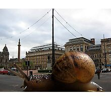 12 - SPEEDY THE SNAIL VISITS GLASGOW - DAVE EDWARDS - 2011 Photographic Print