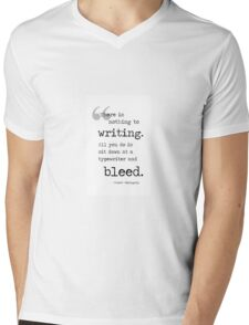 Bleed Mens V-Neck T-Shirt