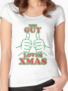 This Guy Loves Xmas Women's Fitted Scoop T-Shirt