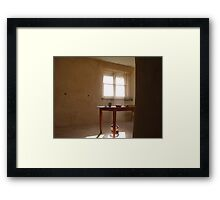 at the end of a productive day Framed Print