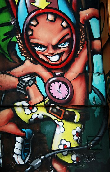 Brighton graffiti by Roxy J