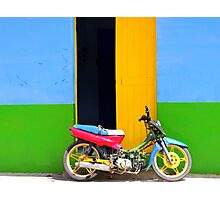 Bike in front of the Primary Colour House Photographic Print