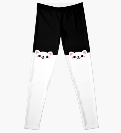 Peeking Cat Leggings