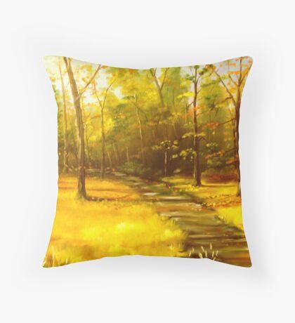 """""""Virginia Creeper Trail"""" Throw Pillow"""