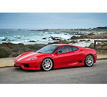Red Ferrari 360 Challenge Stradale Photographic Print