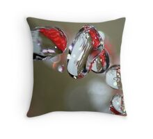 Droplets Throw Pillow