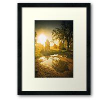 The Foggy Sunrise Framed Print