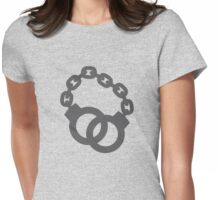Handcuffs in a link  police officer  Womens Fitted T-Shirt