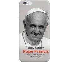 Pope Francis Headshot 2 iPhone Case/Skin