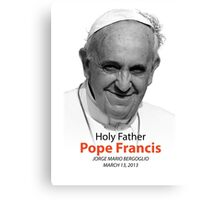 Pope Francis Headshot 2 Canvas Print