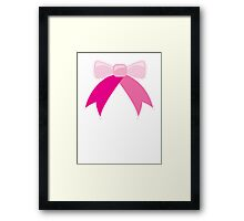 BOW ribbon ribbons Framed Print