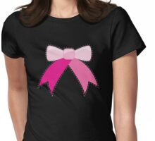 BOW ribbon ribbons Womens Fitted T-Shirt