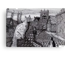 216 - TOBY AND TABATHA IN THE TINY CITY - DAVE EDWARDS - INK - 2008 Canvas Print