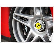 Ferrari Enzo Prancing Horse Wheel Lug Poster