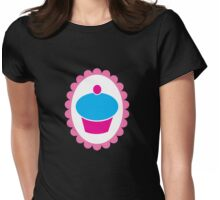 Cute little cupcake on a Cameo Womens Fitted T-Shirt