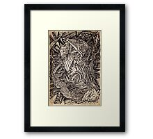 Diffracted (cavern dweller) by Brian Benson Framed Print