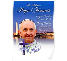 Pope Francis Headshot 4 Poster