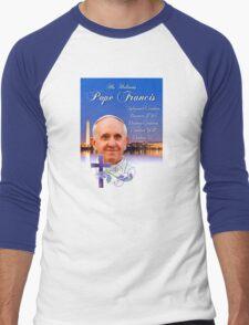 Pope Francis Headshot 4 Men's Baseball ¾ T-Shirt