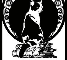 Books,Cats,life is good by Doris Redrupp