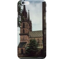 Cathedral Basel Switzerland 19840629 0002 iPhone Case/Skin