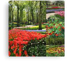 A Dutch Spring Collage Canvas Print