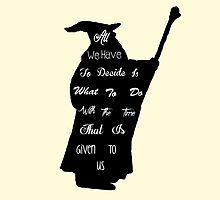 Gandalf The Philosopher by kurticide