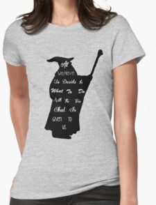 Gandalf The Philosopher Womens Fitted T-Shirt