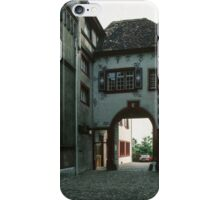 Side of Cathedral Basel Switzerland 19840629 0003 iPhone Case/Skin