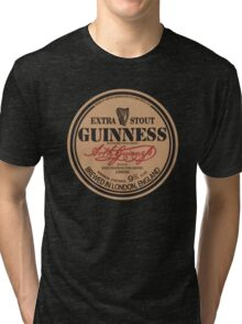Old Style Guinness Logo - David Gilmour Tri-blend T-Shirt