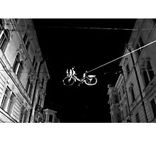 Bicycle On A Wire Photographic Print