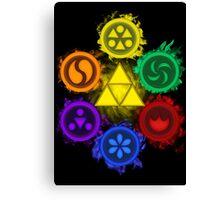 Legend of Zelda - Ocarina of Time - The 6 Sages Canvas Print