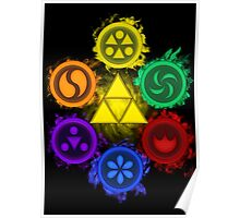 Legend of Zelda - Ocarina of Time - The 6 Sages Poster