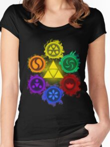 Legend of Zelda - Ocarina of Time - The 6 Sages Women's Fitted Scoop T-Shirt