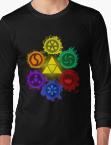 Legend of Zelda - Ocarina of Time - The 6 Sages Long Sleeve T-Shirt
