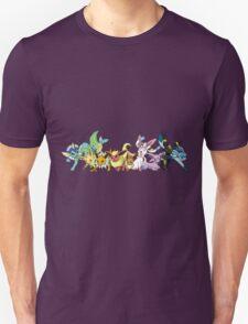 pokemon eevee espeon umbreon glaceon vaporeon jolteon flareon sylveon leafeon anime manga shirt T-Shirt