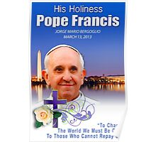 Pope Francis Headshot 7 Poster