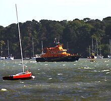 Lifeboat in Poole Harbour by Mike HobsoN