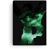 pokemon space leafeon eevee anime manga shirt Canvas Print