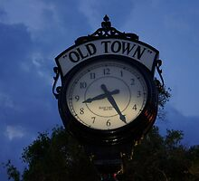 Old Town Clock by Laurie Perry