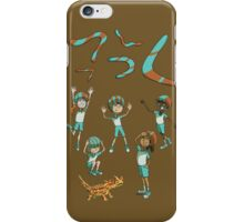 Who threw which boomerang? iPhone Case/Skin