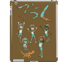 Who threw which boomerang? iPad Case/Skin