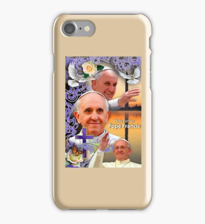 Pope Francis Headshot 9 iPhone Case/Skin