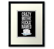 Ice Cube White Framed Print
