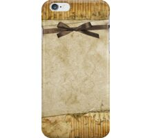 rustic,grunge,vintage,parcel,paper,brown,ribbon,cute,girly,shabby,chic,template iPhone Case/Skin